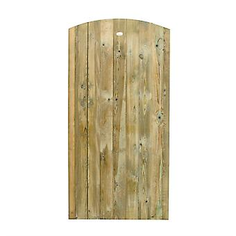 Forest Garden 6ft Featheredge Pressure Treated Wooden Domed Gate