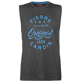 Pierre Cardin Mens Logo Sleeveless T Shirt Tank Top T-Shirt Tee
