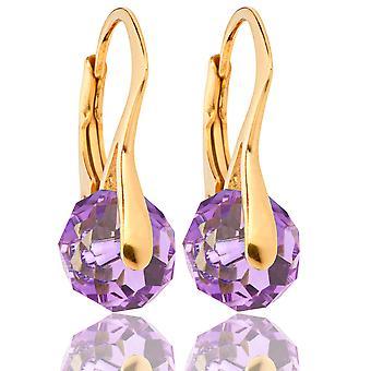 Women's Stunning Briolette Round Crystals From Swarovski Earrings