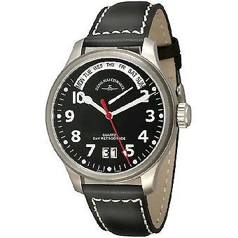 Zeno-watch mens watch oversized pilot retrograde 4259 7003NQ a17