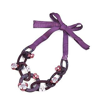 Intrigue Womens/Ladies Acrylic Ribbon Necklace