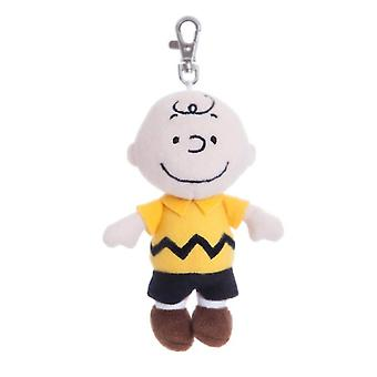 5 Inch Peanuts Charlie Brown Plush Backpack Clip