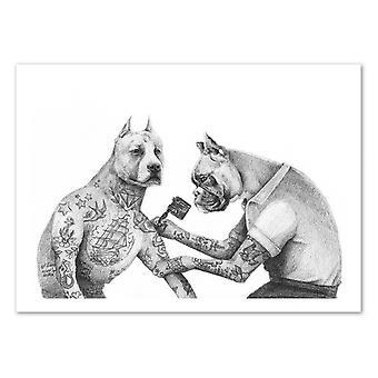 Konst-affisch-den tattooist-Mike Koubou 50 x 70 cm
