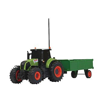 Jamara R/C Tractor CLAAS Axion 850 with Wood Trailer RTR 1:28 Green