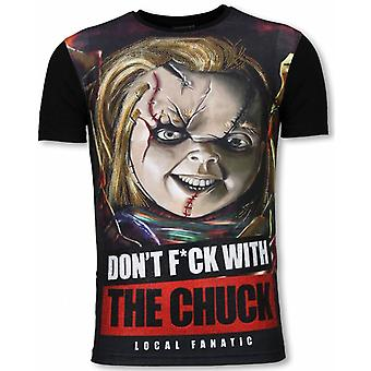 Chuck-Digital rhinestone T-shirt-svart