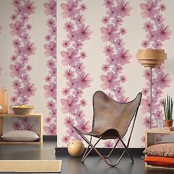 A.S. Creation AS Creation Flower Bloom Pattern Wallpaper Botanical Floral Stripe Textured 342723