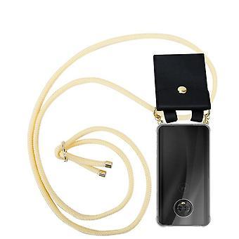 Cadorabo Handykette Hülle für Motorola MOTO G6 Case Cover - Necklace Umhänge Hülle aus Silikon mit Kordel Band Schnur und abnehmbarem Etui – Schutzhülle Case Cover