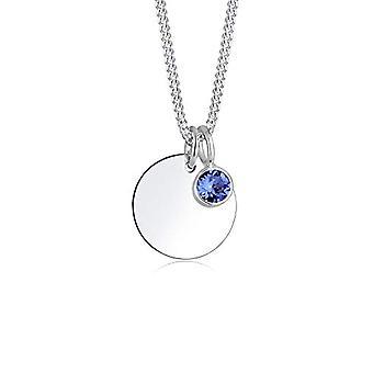 Elli Woman 925 Silver Blue Crystal Swarovski