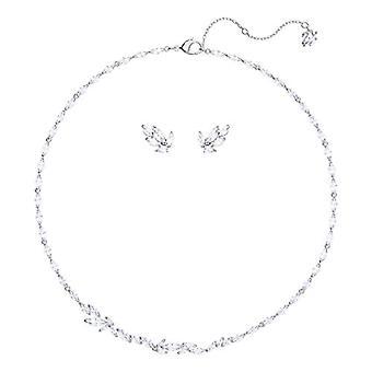 Swarovski Set Louison - medium - white - rhodio plating