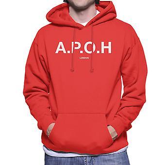 A.P.O.H Classic White Logo Men's Hooded Sweatshirt