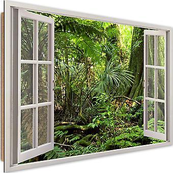 Deco Panel, window - rain forest