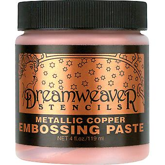 Dreamweaver Embossing Paste 4oz-Copper DWDCP