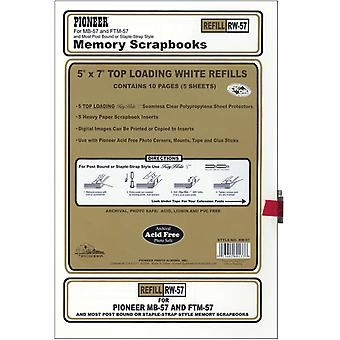 Postbound Top Loading Page Protectors 5 Pkg 5