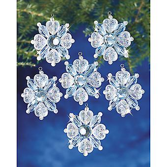 Holiday Beaded Ornament Kit Filagree Snowflake 1 3 4