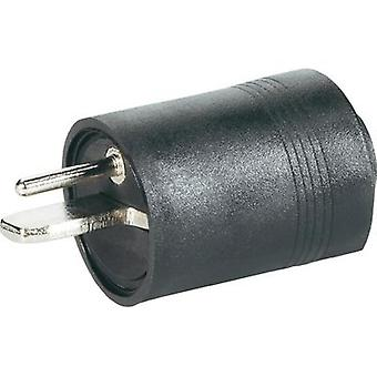 Audio jack Plug, straight Number of pins: 2 Black BKL Electronic 0205003 1 pc(s)
