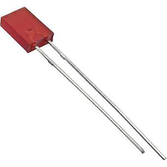 LED wired Red Rectangular 2 x 5 mm 4 mcd