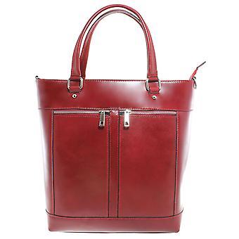 CTM Womens genuine leather Shopper bag made in italy