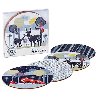 Wild and Wolf Wild & Wolf Folklore 4 Coasters Set