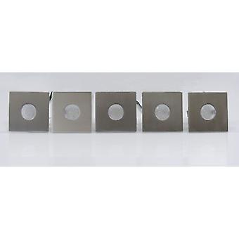 LED recessed lighting 5 Series IP44 5x5cm square warm white 10251
