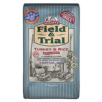 & Feltundersøgelse Tyrkiet & ris + fælles støtte For hunde 15kg