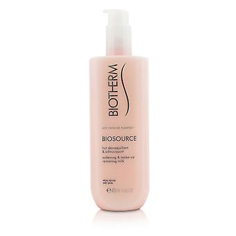 Biotherm Biosource opblødning & Make-Up fjerner mælk - For tør hud 400ml/13,52 oz