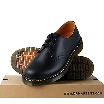 Size UK 7-12: Dr Martens AirWair 1461z Black Leather 3 eyelet Shoe Smooth Docs
