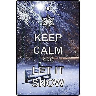 Keep Calm And Let It Snow Car Air Freshener