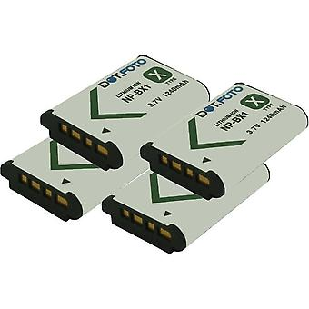 4 x Dot.Foto Sony NP-BX1 Replacement Battery - 3.7v / 1240mAh