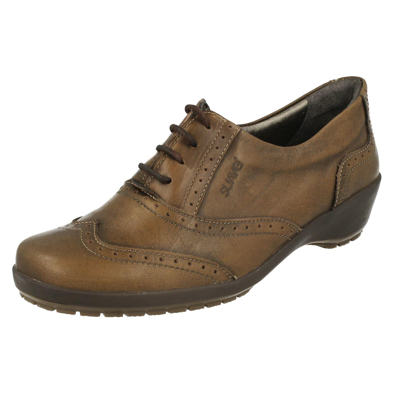 Ladies Suave Casual Lace Up Shoes Ruby
