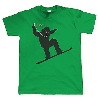 Ich reite, Mens Snowboard Tshirt