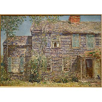 Childe Hassam - oude huis Easthampton Long Island Poster Print Giclee