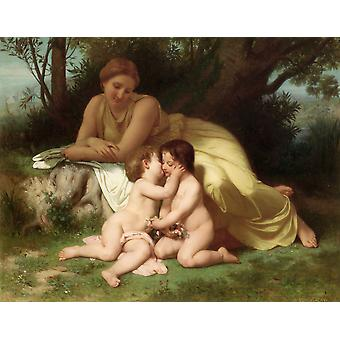 William Bouguereau - Young Woman Contemplating Poster Print Giclee