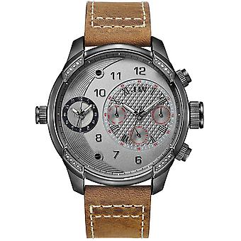 JBW diamond men's stainless steel watch G3 - Black / Brown