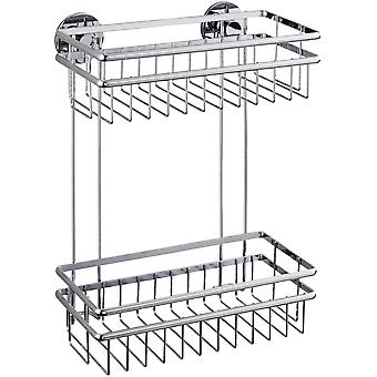 Wenko Express-Loc 2-Tier Wall Rack Cali (Bathroom accessories , Shelves and Hooks)
