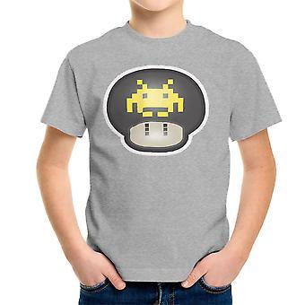 Super Mario Mushroom Space Invader Kid's T-Shirt