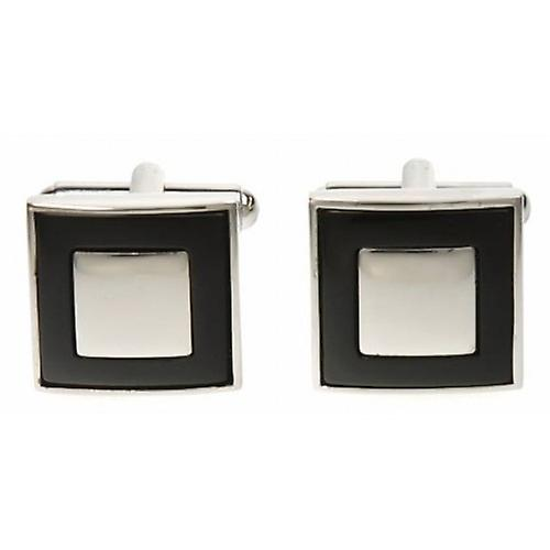 Simon Carter Square Moat Onyx Cufflinks - Black