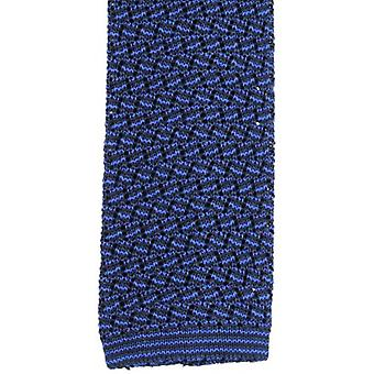 KJ Beckett Suzy Chevron Silk Tie - Navy/Royal Blue