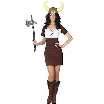 Vestuario de la mujer vikinga señora traje