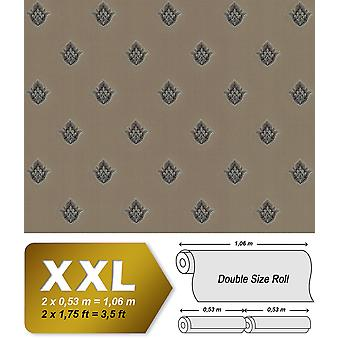 Baroque wallpaper EDEM 9043-26 non-woven wallpaper imprinted with ornaments shiny brown beige copper silver 10.65 m2