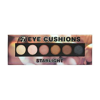 W7 Cosmetics Starlight Gel To Powder 6 Colours Golden Eyeshadow Make Up Palette
