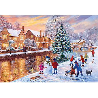 Gibsons Bourton a Natale Jigsaw Puzzle (500 pezzi)