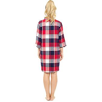 Damer Foxbury garn farvet Plaid Check bomuld rige natkjole Nighty nattøj