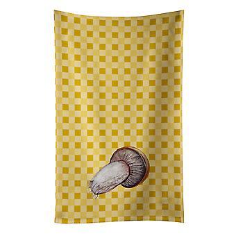 Carolines Treasures  BB7212KTWL Rotkappe Mushroom on Basketweave Kitchen Towel