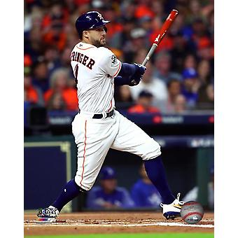 George Springer Double Game 3 of the 2017 World Series Photo Print