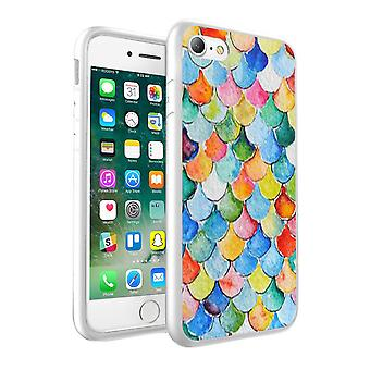 i-Tronixs LG K8 2017 Mixed Color Fish Scale Design Printed Case Skin Cover - 035
