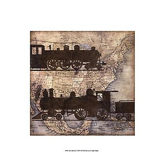 Travel Silhouette I Poster Print by Megan Meagher (13 x 19)