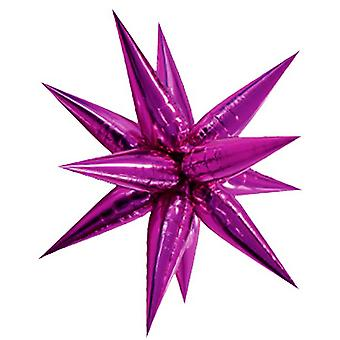 Unique Party Supershape 100cm Pink Starburst Balloon