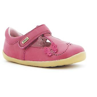 Bobux Step Up Girls Flutter T-bar Cerise Shoes