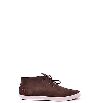 Fred Perry men's MCBI128068O brown suede of sneakers