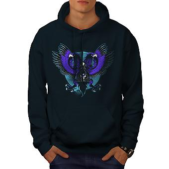 Eagle Triangle Men NavyHoodie | Wellcoda